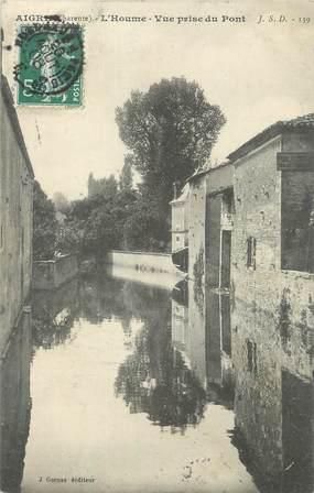 """CPA FRANCE 16 """" Aigre, L'Houme, vue prise du pont""""."""