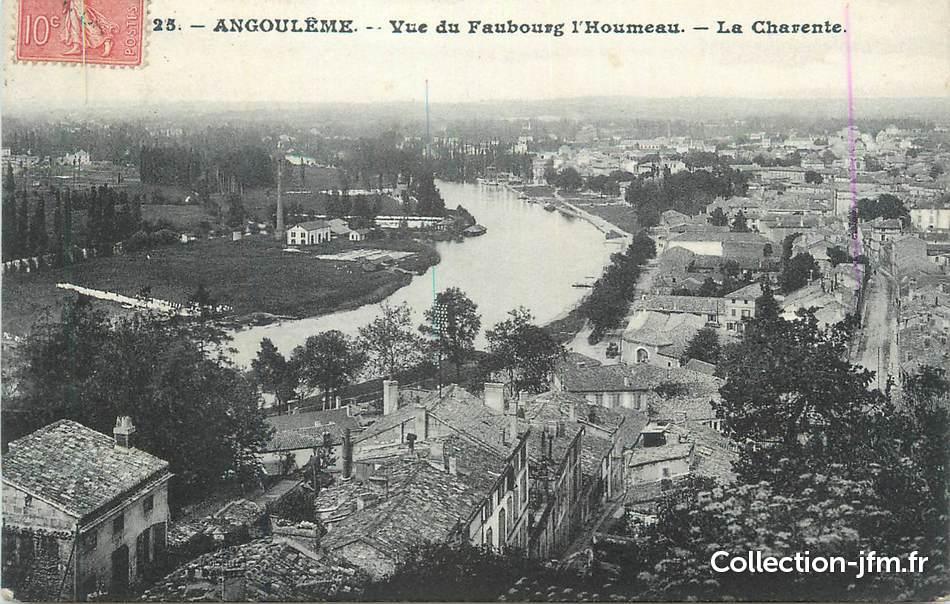 Cpa france 16 angoul me vue du faubourg l 39 houmeau la for Plan angouleme 16