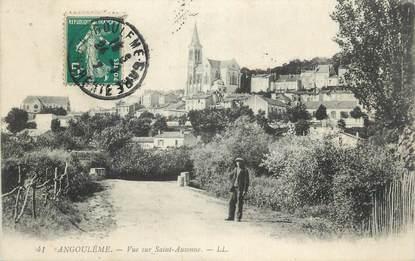 """CPA FRANCE 16 """" Angoulême, Vue sur St Ausonne""""."""