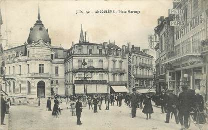 """CPA FRANCE 16 """" Angoulême, Place Marengo""""."""