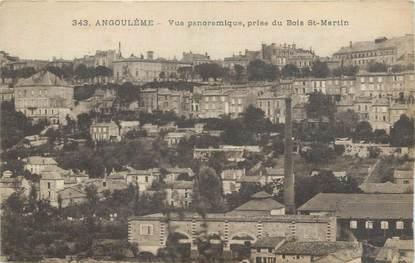 """CPA FRANCE 16 """" Angoulême, Vue panoramique prise du bois St Martin""""."""