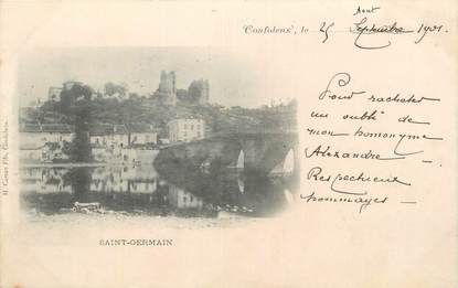 """CPA FRANCE 16 """" Confolens, St Germain""""."""