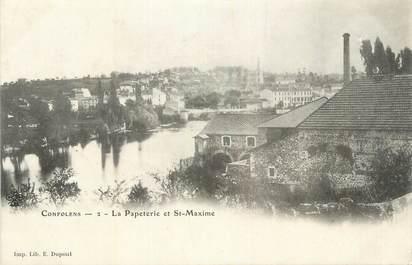 """CPA FRANCE 16 """" Confolens, La Papeterie et St Maxime""""."""