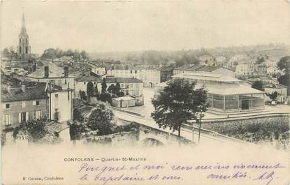"CPA FRANCE 16 "" Confolens, Quartier St Maxime""."
