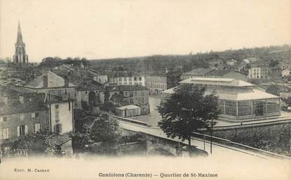"CPA FRANCE 16 "" Confolens, Quartier de St Maxime""."