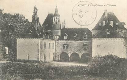 """CPA FRANCE 16 """" Confolens, Château de Villevert""""."""