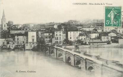 """CPA FRANCE 16 """" Confolens, Rive droite de la Vienne""""."""
