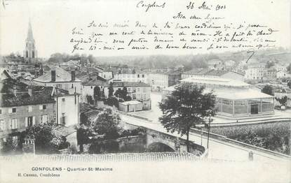 "CPA FRANCE 16 "" Confolens, Quartier Ste Maxime""."