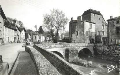 """CPSM FRANCE 16 """" Confolens, Le vieux manoir et le Pont sur la Goire""""."""