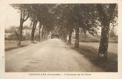 """CPA FRANCE 16 """" Chazelles, L'Avenue de la gare""""."""