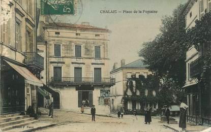 """CPA FRANCE 16 """" Chalais, Place de la fontaine""""."""