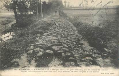"""CPA FRANCE 16 """"Chasseneuil, Vestiges d'une voie gallo romaine près le Moulin de Goursac""""."""
