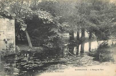 """CPA FRANCE 16 """"Barbezieux, L'étang du parc""""."""