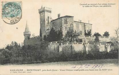 """CPA FRANCE 32 """" Montégut, Vieux château """"."""