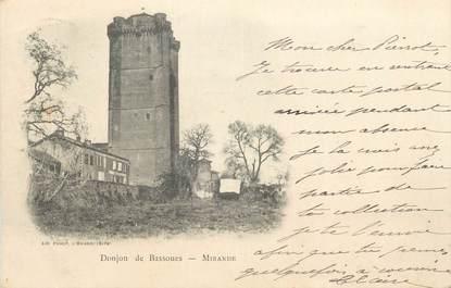 """CPA FRANCE 32 """" Mirande, Le château de Bassoues""""."""
