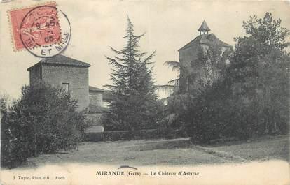"""CPA FRANCE 32"""" Mirande, Le château d'Astarac""""."""
