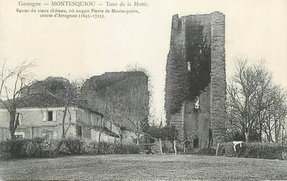 """CPA FRANCE 32"""" Montesquieu, Tour de la Motte""""."""