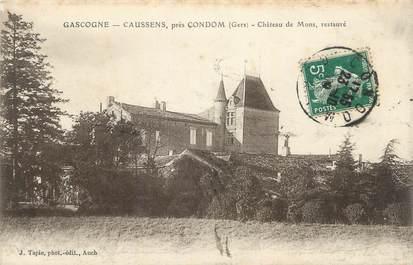 """CPA FRANCE 32 """"Caussens, Château de Mons""""."""