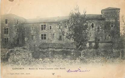 """CPA FRANCE 32 """"Gondrin, Restes du vieux couvent""""."""