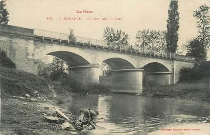 """CPA FRANCE 32 """" Fleurance, Le pont sur le Gers""""."""