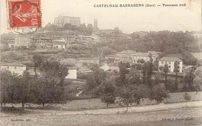 "CPA FRANCE 32 "" Castelnau Barbarens, Panorama midi""."