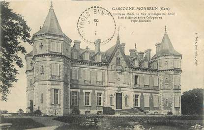 "CPA FRANCE 32 "" Monbrun, Château moderne""."