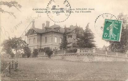 """CPA FRANCE 32 """" Sorbet, Le château de Mr Noulens""""."""