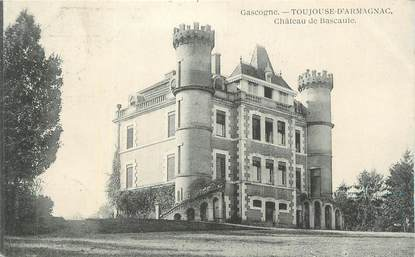 """CPA FRANCE 32 """" Toujouse d'Armagnac, Le château de Bascaule""""."""