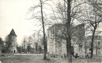 """CPSM FRANCE 32 """" Montréal du Gers, Château fort de Balarin""""."""