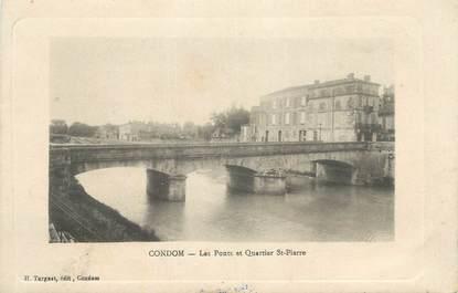 """CPA FRANCE 32 """" Condom, Les ponts et quartier St Pierre""""."""