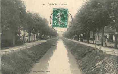 "CPA FRANCE 32 "" Condom, Le canal""."