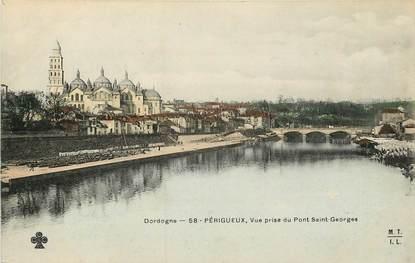 """CPA FRANCE 24 """"Périgueux, vue prise du pont Saint Georges"""""""