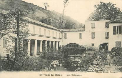 """CPA FRANCE 34 """" Sylvanès les Bains, Les colonnes""""."""