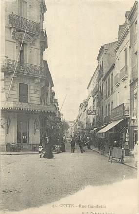 "CPA FRANCE 34 "" Cette, Rue Gambetta""."