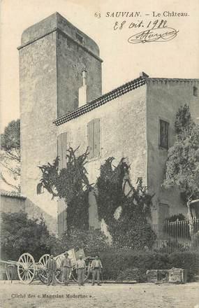 """CPA FRANCE 34 """"Sauvian, Le château'."""