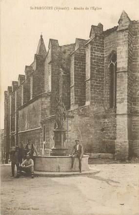 """CPA FRANCE 34 """"St Pargoire, Abside de l'église""""."""