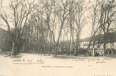 "CPA FRANCE 34 ""St Pons, Promenade du Foiral""."