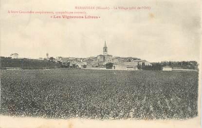 """CPA FRANCE 34 """"Maraussan, Le village""""."""