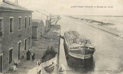 "CPA FRANCE 34 ""Lapeyrade, Bureau du canal""."