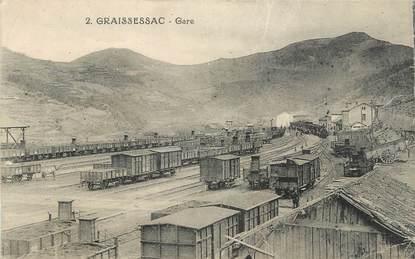 "CPA FRANCE 34 ""Graissenac, Gare""."