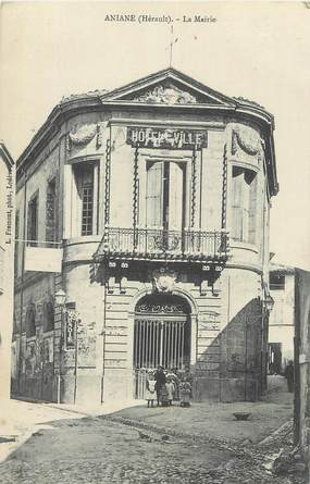 "CPA FRANCE 34 ""Aniane, La Mairie""."
