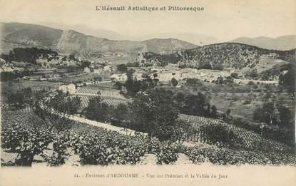 """CPA FRANCE 34 """"Environs d'Ardouane, Vue sur Prémian et la vallée du Jaur""""."""