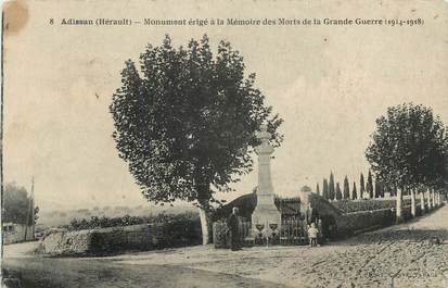 """CPA FRANCE 34 """"Adissan, Monument aux morts""""."""