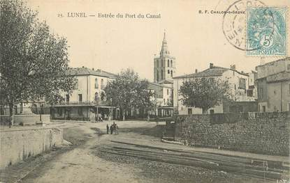"""CPA FRANCE 34 """"Lunel, Entrée du port du canal""""."""