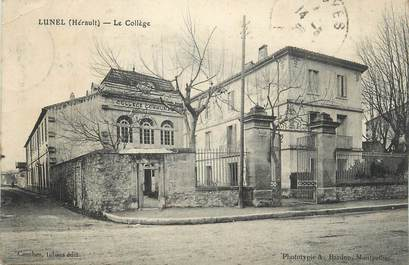 "CPA FRANCE 34 ""Lunel, Le collège""."
