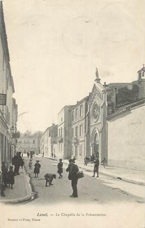 """CPA FRANCE 34 """"Lunel, La chapelle de la Présentation""""."""