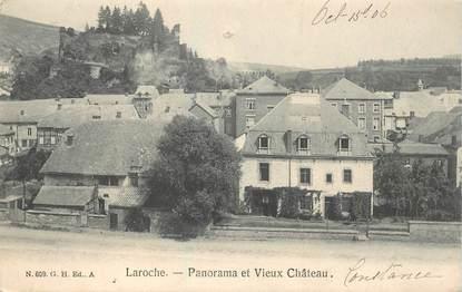 """CPA BELGIQUE """"Laroche, panorama et vieux chateau"""""""