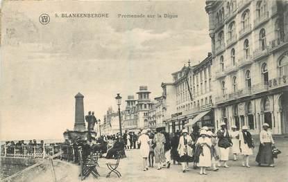 """CPA BELGIQUE """"Blankenberghe, promenade sur la digue"""""""