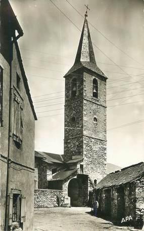 """CPSM FRANCE 34 """"Fraisse sur Agout, Entrée de l'église et le clocher""""."""