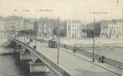 """CPA BELGIQUE """"Liège, le Pont Neuf"""""""